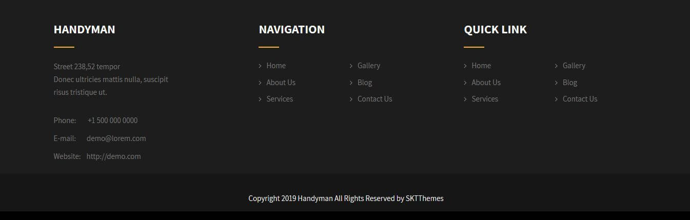 Footer Layout 3